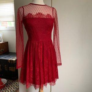 Express Long Sleeve Lace Dress